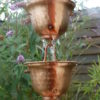 chaine de pluie à base de coupelles