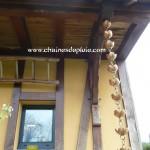 descente de toit remplacant le tube de gouttière