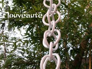 chaînes de toiture Blanche