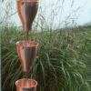 gouttière cuivre chaîne de pluie